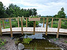 How to build a pond bridge